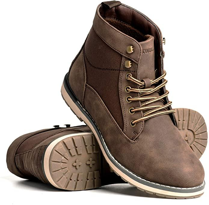 Blackwell Mens Norman Vegan Leather & Textile Lace Up Boot. Image via Amazon.