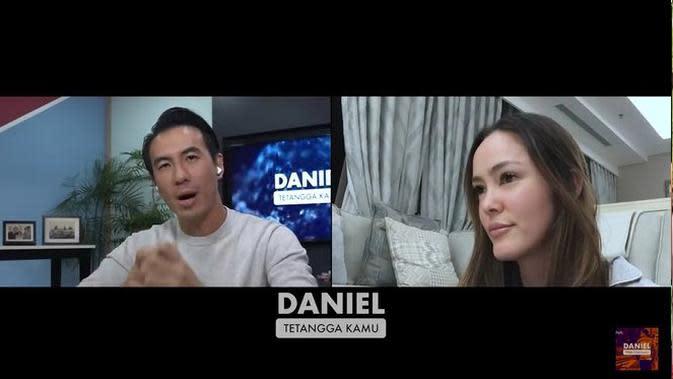 Cathy Sharon saat diwawancara Daniel Mananta