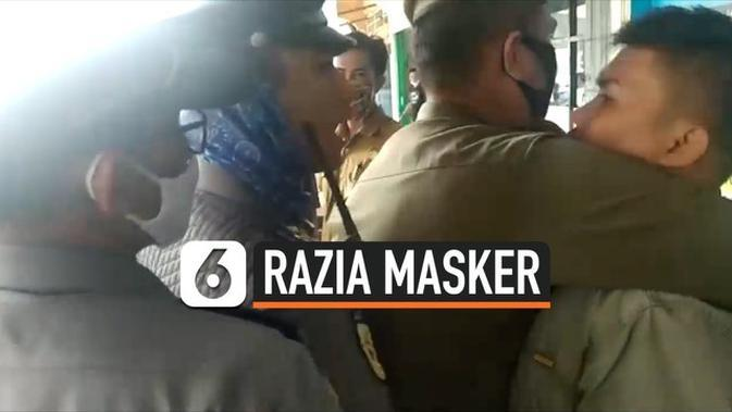VIDEO: Razia Masker, Petugas Nyaris Berkelahi dengan Warga