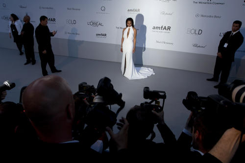 Singer Janet Jackson arrives for the amfAR Cinema Against AIDS benefit at the Hotel du Cap-Eden-Roc, during the 65th Cannes film festival, in Cap d'Antibes, southern France, Thursday, May 24, 2012. (AP Photo/Joel Ryan)