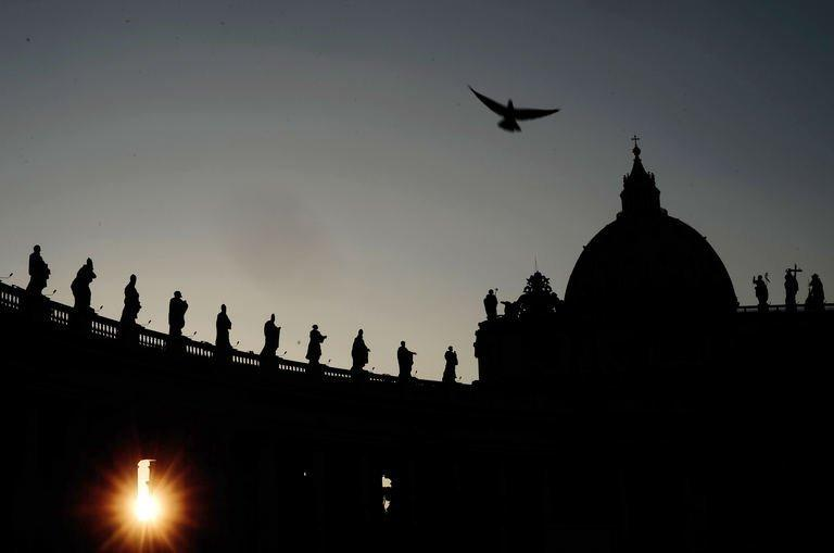A picture taken on March 4, 2013 shows St. Peter's Square at the Vatican
