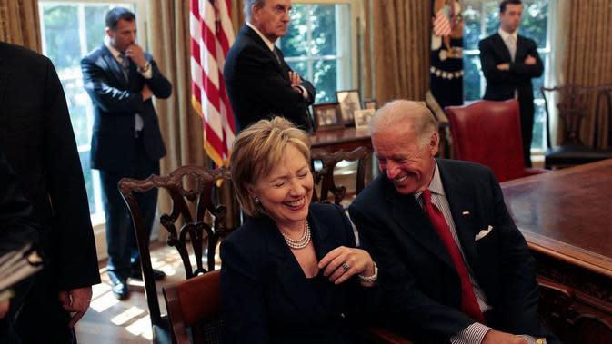 Hillary Clinton mendukung Joe Biden sebagai capres Partai Demokrat di pilpres 2020. Dok: Twitter Joe Biden @JoeBiden