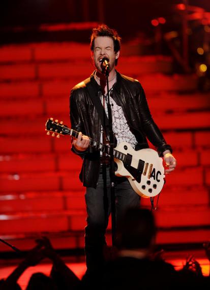 David Cook performs on American Idol.