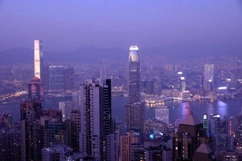 Hong Kong skyline is pictured from Victoria Peak in Hong Kong