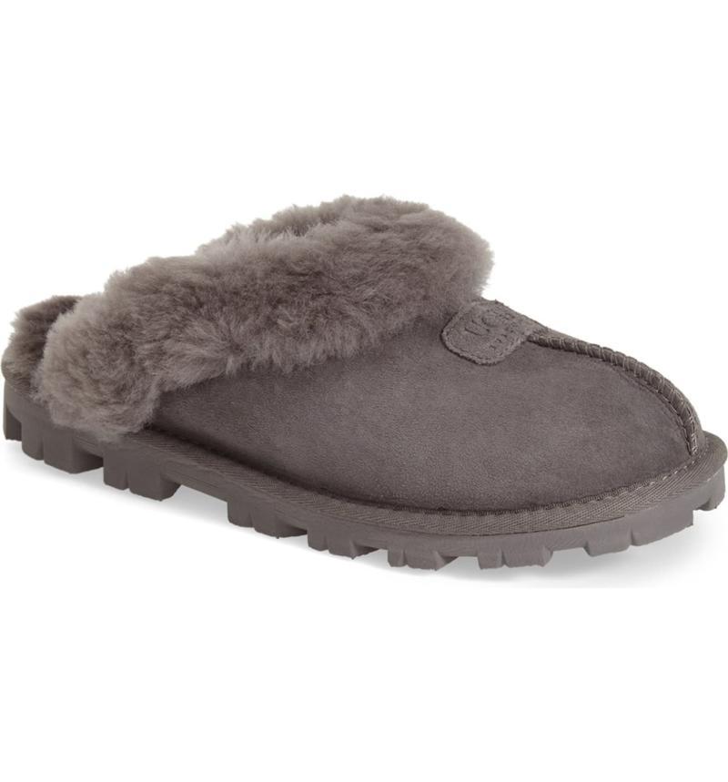UGG Genuine Shearling Slipper in Grey.