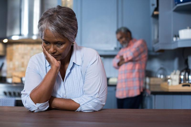 upset older woman, over 50 regrets