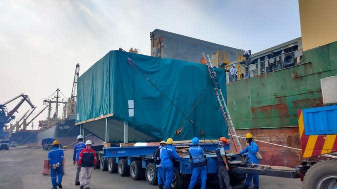 PT Barata Indonesia (Persero) selama pandemi Covid-19 tetap melaksanakan ekspor komponen pembangkit listrik ke tiga negara yaitu ke Armenia, Bahrain dan ke Jerman. (Dok Barata)