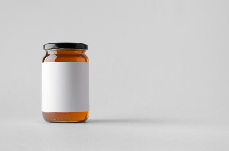sticker on honey jar, diy hacks