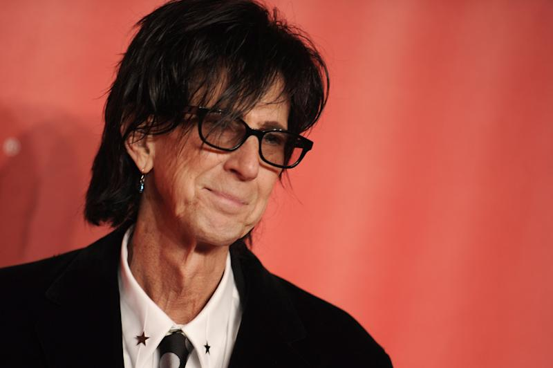 Ric Ocasek of the Cars arrives at the 2015 MusiCares Person of the Year event at the Los Angeles Convention Center.