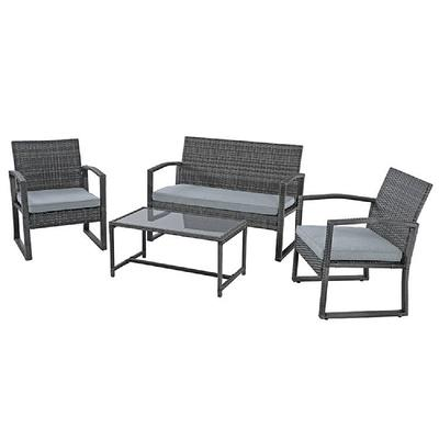 Freestyle Outdoor Living Patiorama 4, Grey Wicker Outdoor Furniture Sets