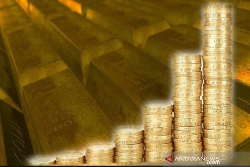Emas raih kenaikan hari ketiga beruntun, ditopang pelemahan dolar AS
