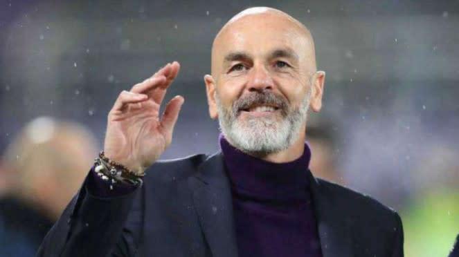 Pelatih AC MIlan, Stefano Pioli.