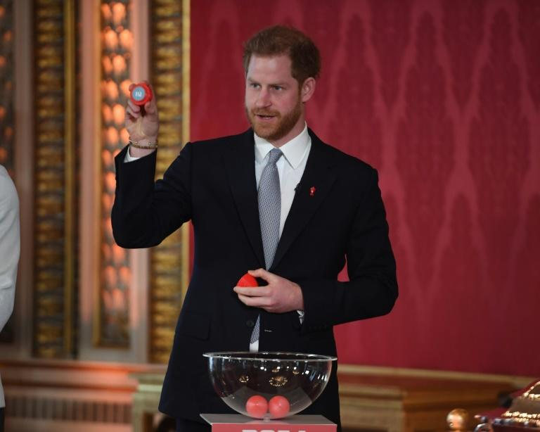 Prince Harry oversaw the 2021 Rugby League World Cup draw in his first public engagement since the bombshell announcement of his and wife Meghan quitting as full-time royals