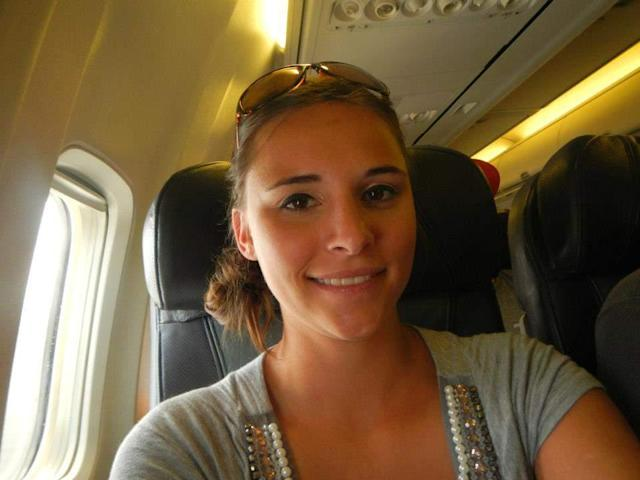 Heidi McKinney on a previous flight