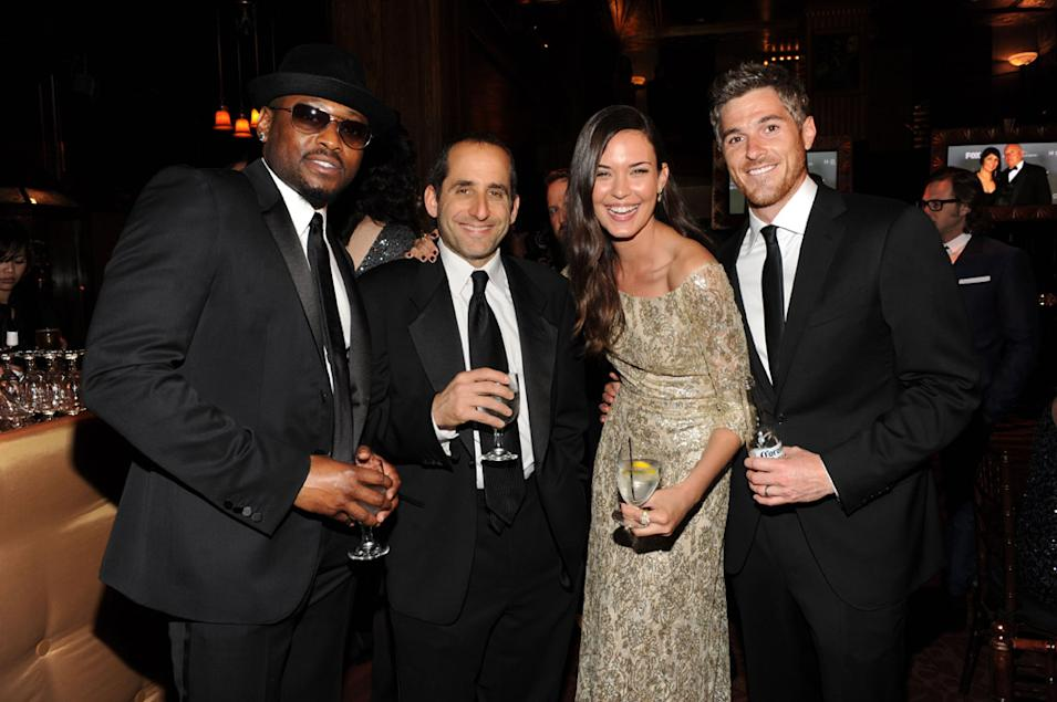 Omar Epps, Peter Jacobson and Odette Annable and husband David Annable