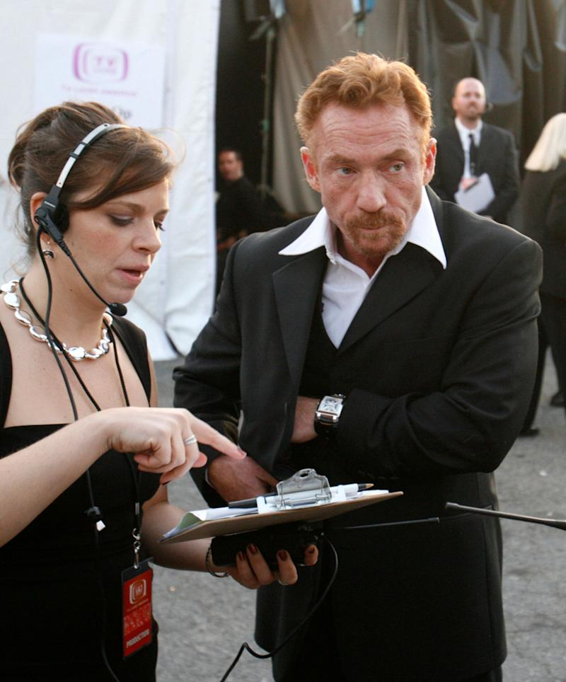 Actor Danny Bonaduce, right, waits backstage at the taping of the 5th annual TV Land Awards in Santa Monica, California, on April 14, 2007. Bonaduce's VH1 reality show, which included intense couples counseling sessions, had recently ended its second season. (Max Morse / Reuters)