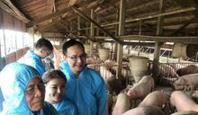 朱立倫拜訪雲林豬農參觀豬舍 (圖)