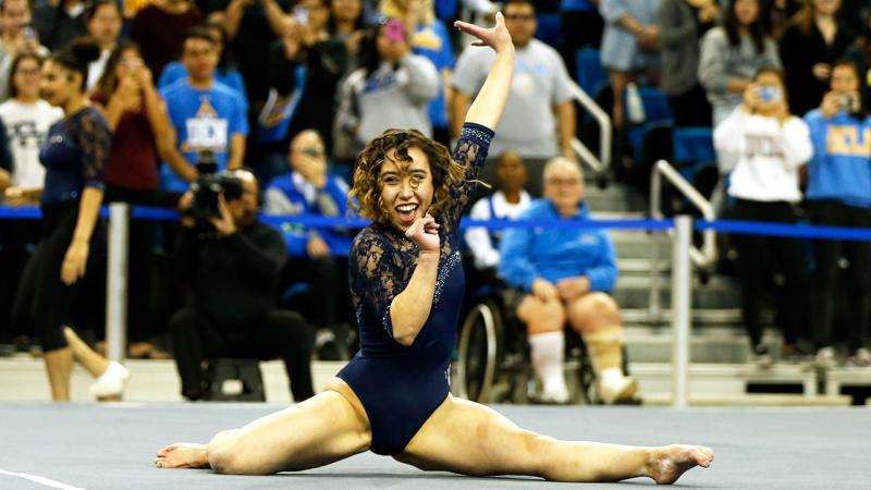 American gymnast Katelyn Ohashi has become a viral sensation.