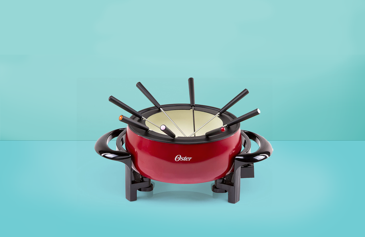 """<p><a href=""""https://www.goodhousekeeping.com/food-recipes/g26899440/50s-60s-nostalgia-foods/?slide=2"""">Fondue has been around for a long time, </a>and we understand why. It's hard to go wrong with melted cheese and chocolate, especially when entertaining guests or kids. In its simplest form, a fondue pot is a vessel that sits atop a direct heat source — either a heating element or an open flame. It's designed to stay warm on its own so it can be used on a tabletop or buffet. </p><p>The most common uses are for melting cheese or chocolate for dipping, but it's also used for heating broth or oil for cooking meat. While you can certainly make fondue without a fondue maker, these warmers take away the fuss of heating to the right temp without burning and maintaining the perfect level of melty-ness. </p><p>In <a href=""""https://www.goodhousekeeping.com/institute/"""">the Good Housekeeping Institute,</a> our experts test thousands of products each year from <a href=""""https://www.goodhousekeeping.com/cooking-tools/best-kitchen-knives/g646/best-kitchen-cutlery/"""">knives</a> to <a href=""""https://www.goodhousekeeping.com/cooking-tools/g28563931/cool-kitchen-gadgets/"""">the coolest kitchen gadgets</a>. When we asked the Kitchen Appliance Lab experts what to look for when buying a fondue maker, Senior Testing Editor Nicole Papantoniou said the key factors to consider are heating style (electric or manual), material (stainless steel, ceramic, enameled cast iron), and size (individual and up to three quarts). Below are our top recommended fondue makers, included a variety of different types and features; plus, an explanation of the different types and features.  <br></p><ul><li><strong>Best Overall Fondue Pot:</strong> <a href=""""https://www.amazon.com/dp/B005MWFWYA?tag=syn-yahoo-20&ascsubtag=%5Bartid%7C10055.g.34108966%5Bsrc%7Cyahoo-us"""">Swissmar Lugano 9-Piece Fondue Set</a></li><li><strong>Best Value Fondue Pot: </strong><a href=""""https://www.amazon.com/Oster-Titanium-DuraCeramic-Eggshell-FP"""