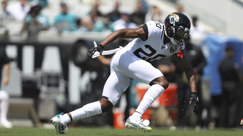 Cornerback Jalen Ramsey and the Jacksonville Jaguars host the Tennessee Titans on Thursday night. (AP)