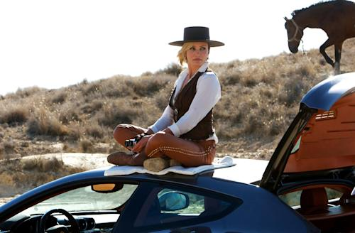 """This photo released by Twentieth Century Fox shows Cameron Diaz as Malkina in the film, """"The Counselor."""" (AP Photo/Copyright Twentieth Century Fox, Kerry Brown)"""