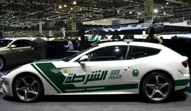 Dubai police hit the streets in a Ferrari FF, with more room for bad guys