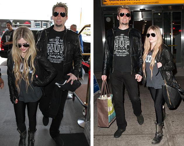 Avril Lavigne and Chad Kroeger party in Los Angeles and New York