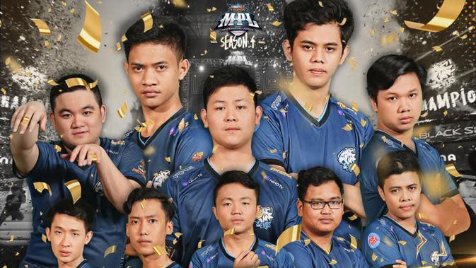 Tim EVOS Esports menjadi jawara MPL Indonesia Season 4. (FOTO / Ist ML)