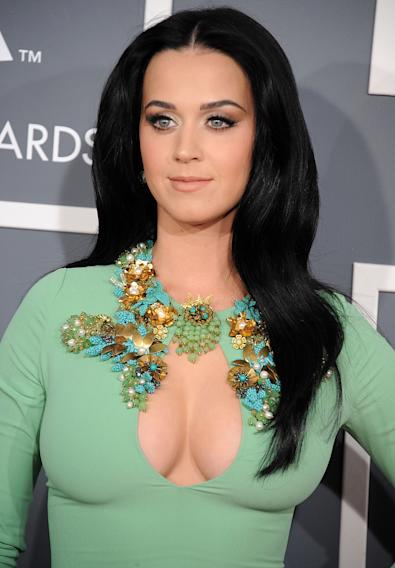 Katy Perry has no shame in showing her full chest at the Grammys.