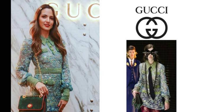 Nia Ramadhani sandang tas Gucci (Dok.Instagram/@fashion_ramadhania_bakrie/https://www.instagram.com/p/B4tKAXsnzr5/Komarudin)
