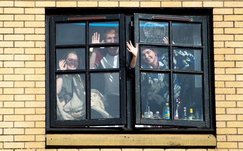 Students at the University of Glasgow's Murano Street Student Village halls - James Chapelard