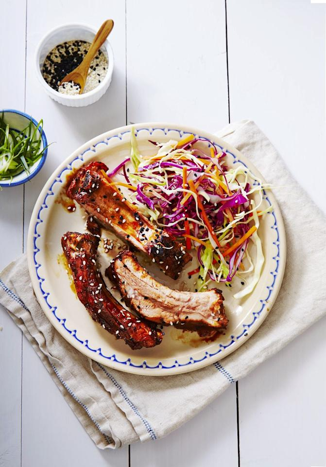 "<p>Let these juicy ribs bake in the <a href=""https://www.goodhousekeeping.com/food-recipes/healthy/g1364/myplate-inspired-slow-cooker-dinners/"" target=""_blank"">slow cooker</a> all day while you enjoy the perfect Memorial Day weather. </p><p><a class=""body-btn-link"" href=""https://www.amazon.com/BLACK-DECKER-7-Quart-Chalkboard-SCD4007/dp/B01LZZLQUL?tag=syn-yahoo-20&ascsubtag=%5Bartid%7C10055.g.3493%5Bsrc%7Cyahoo-us"" target=""_blank"">SHOP SLOW COOKERS</a></p><p><em><a href=""https://www.goodhousekeeping.com/food-recipes/easy/a34565/slow-cooked-teriyaki-ribs/"" target=""_blank"">Get the recipe for Slow-Cooked Teriyaki Ribs »</a></em></p>"