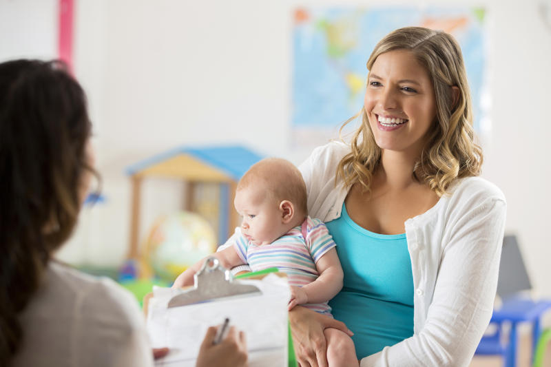 It's tough to job hunt as a parent, but one recruiter shows employers still have a heart. Source: Getty