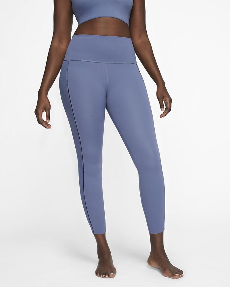 Yoga Luxe Infinalon Ribbed 7/8 Leggings. Image via Nike.