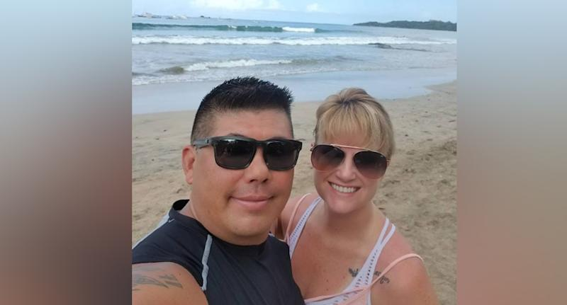Darren (left) and Kimberley Mizokami (right) died at a waterfall in Costa Rica.