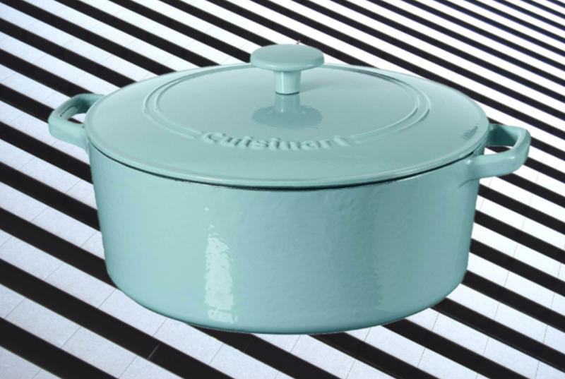 Cuisinart Casserole Cast Iron, Light Blue, 7 quart. (Photo: Amazon/Yahoo Lifestyle)