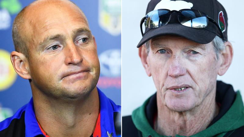 Nathan Brown and Wayne Bennett, pictured here at their respective clubs. Image: Getty