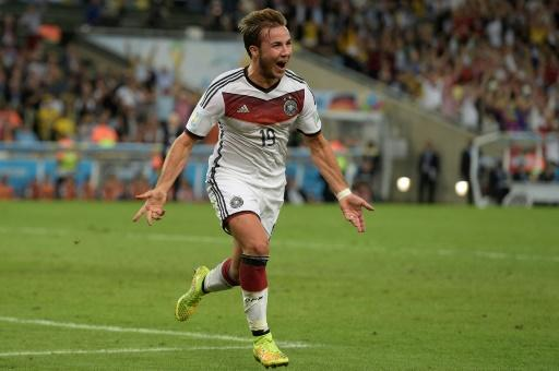 Mario Goetze celebrates his winning goal in the 2014 World Cup final, but he has had a torrid four years since then