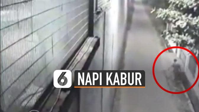 VIDEO: Rekaman CCTV Napi Terpidana Mati Asal China Kabur Lewat Gorong-Gorong