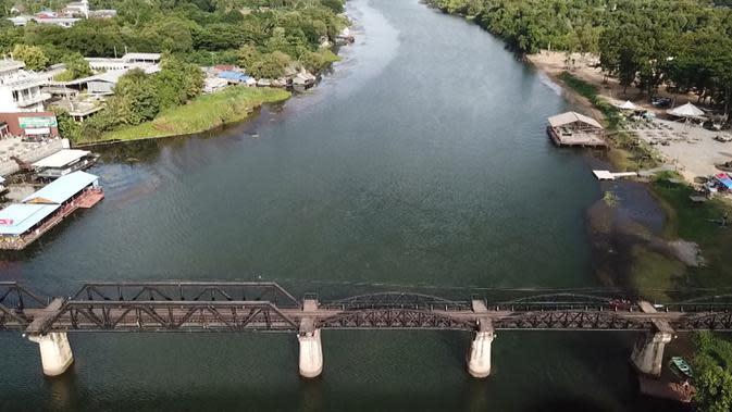 Jembatan di atas Sungai Kwai, bagian paling terkenal dari
