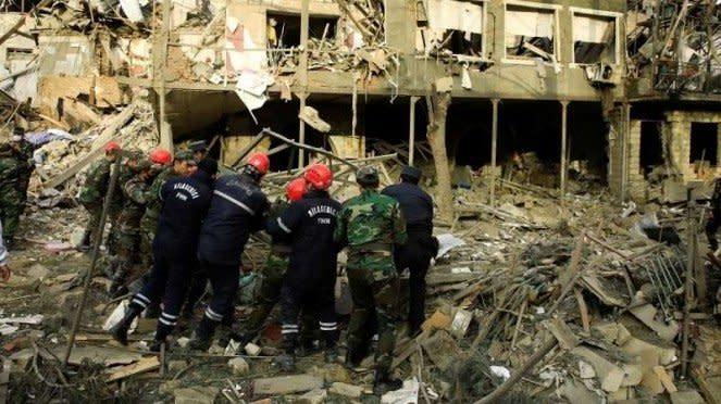 VIVA Militer: Rumah sakit darurat di Ganja, Azerbaijan, Hancur