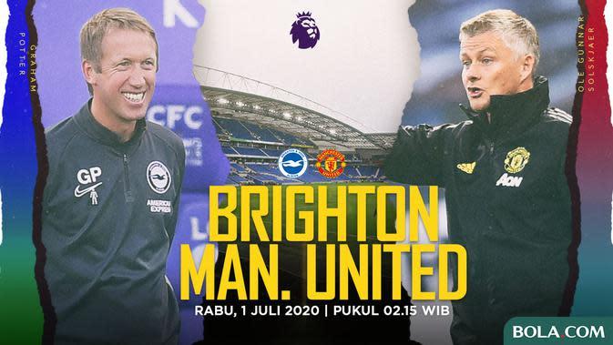 Premier League - Brighton Vs Manchester United - Head to Head Pelatih (Bola.com/Adreanus Titus)