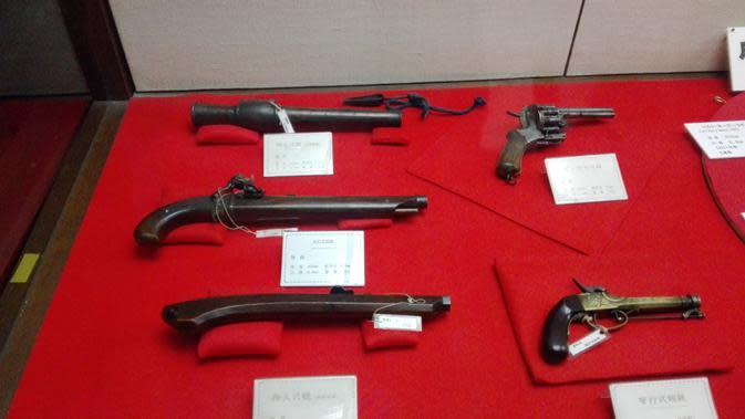 Tidak hanya pedang, para prajurit Matsumoto juga dipersenjatai dengan senjata api (Liputan6.com/Andry Haryanto)