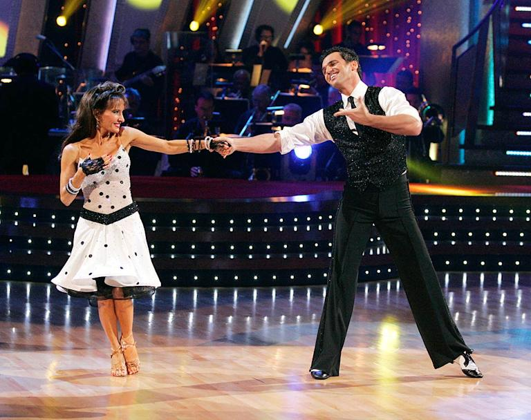 Tony Dovolani and Susan Lucci perform a dance on the seventh season of Dancing with the Stars.