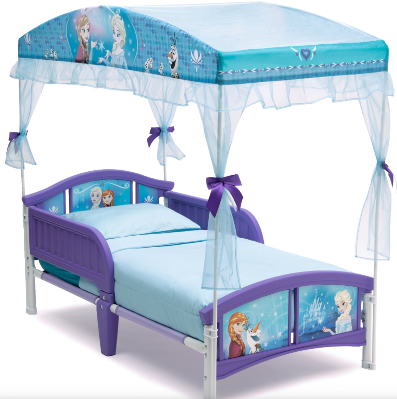 Delta Children Disney Frozen Plastic Toddler Canopy Bed. (Photo: Walmart)