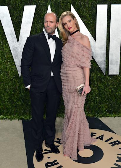 2013 Vanity Fair Oscar Party Hosted By Graydon Carter - Arrivals: Jason Statham and Rosie Huntington-Whiteley
