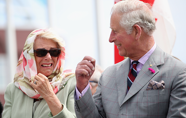 Charles and Camilla were pictured in a fit of giggles during their Canadian trip. Photo: Getty