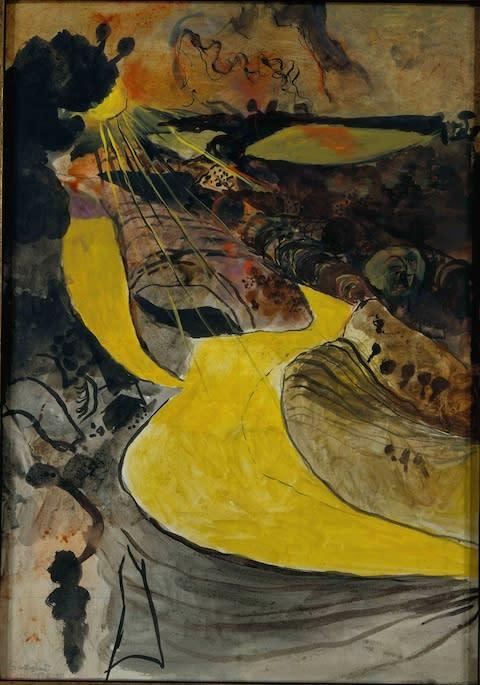Graham Sutherland, Welsh Landscape With Yellow Lane (1939-40) - Credit: Estate of Graham Sutherland
