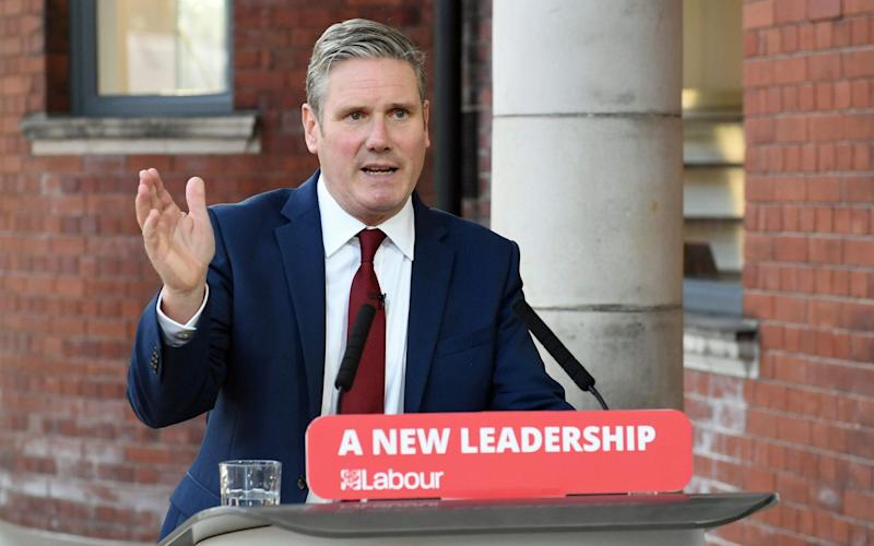 Sir Keir Starmer said he stood by comments made before he became party leader - STEFAN ROUSSEAU/PA