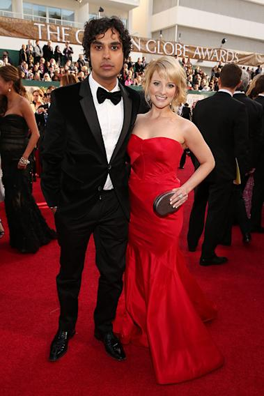 """NBC's """"70th Annual Golden Globe Awards"""" - Red Carpet Arrivals: Kunal Nayyar and Melissa Rauch"""
